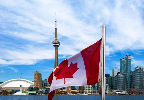 Canadian flag and the Toronto